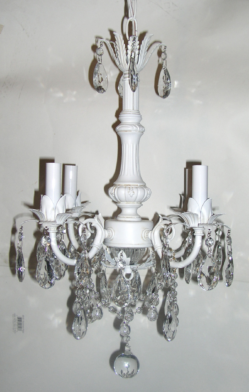 Adding Crystals To Chandelier